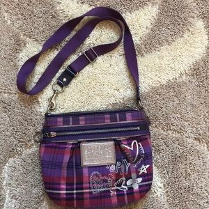 Coach Poppy Tartan Shoulder Bag Crossbody